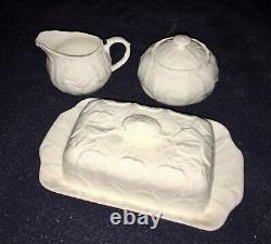 Wedgewood Bone China Butter Dish Cream & Sugar Set Countryfare Made In England