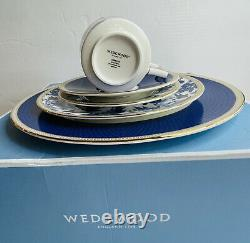 Wedgewood England 1759 Hibiscus Bone China 5 Piece Place Setting for One New