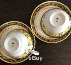 Wedgewood INDIA Tea Cup & Saucer Bone China Made in England SET of 2 Tableware