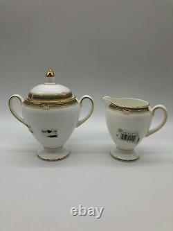 Wedgewood Oberon Bone China Made in England Cream and Sugar Set NOS