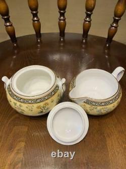 Wedgwood 1996 INDIA Creamer & Sugar Pot SET Bone China Made in England Tableware