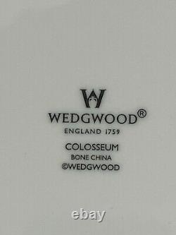 Wedgwood COLOSSEUM Dinner Plates Whiteware Bone China Made in England Set/5