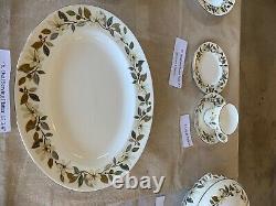 Wedgwood China England 3 BEACONSFIELD Platinum Dinnerware set for eight