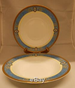 Wedgwood China Madeleine Rimmed Soup Bowls Set Of 2 New Made In England