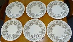 Wedgwood England Ashford Set of 6 Dinner Plates 10 7/8 Bone China