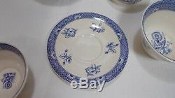 Wedgwood England Bone China BLUE CALICO 11 Piece Tea Set VGC