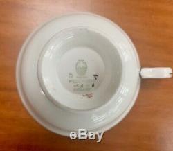 Wedgwood England Bone China Tea/Coffee Set 6 Teacups/Saucers, Sugar with Lid, C