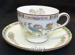 Wedgwood England Kutani Crane Set of 5 Cups and Saucers Bone China