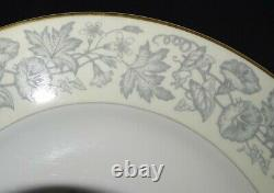 Wedgwood England Wildflower Set of 8 Dinner Plates 10 3/4 Bone China