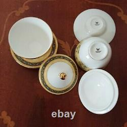 Wedgwood INDIA Tea cup set of 2 WithLid Bone China Made in England Tableware