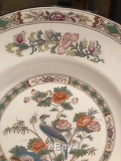 Wedgwood Kutani Crane Bone China Set Of 8 Dinner Plates England