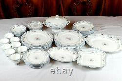 Wedgwood Lot of 56 Dinnerware Set Rosedale Bone China England R4665