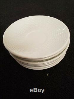 Wedgwood Nantucket basket woven style bone China 45pc Set England 1759