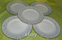 Wedgwood R4652 White Dolphins Salad Plate Set of 5 Bone China England