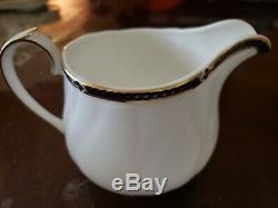 Wedgwood ROYAL LAPIS Fine Bone china 3pc. Custom set Made in England
