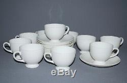 Wedgwood Teacups Saucers Bone China White Set/10 England