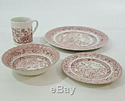Wessex Collection Pink Willow China (6) 4 Pc Place Settings (24 Pieces) England