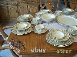 Woods Burslem England Arley Pattern 100 Piece Set 1930's Enoch 1784 Ralph 1750